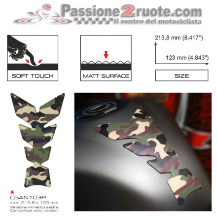 Paraserbatoio Print Mimetico Sabbia soft touch