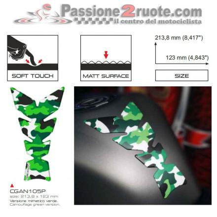 Paraserbatoio Print Mimetico Verde soft touch