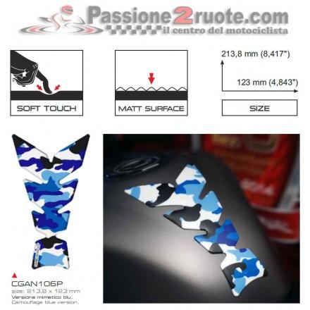 Paraserbatoio Print Mimetico Blu soft touch