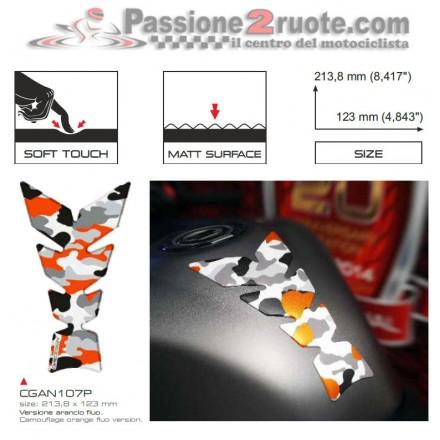 Paraserbatoio Print Mimetico Arancio soft touch
