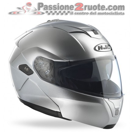 Casco modulare Hjc Sy-Max III Metal Silver helmet