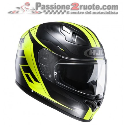 Casco moto Hjc Fg-St Crono black yellow Mc-4hsf helmet