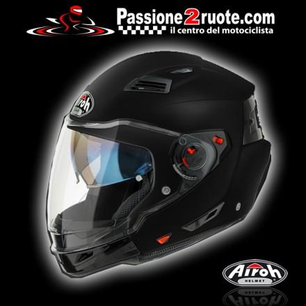 Casco crossover Airoh Executive nero opaco black matt moto helmet