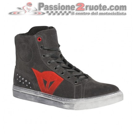 Scarpe moto Dainese Street Biker Air Carbone Rosso red shoes