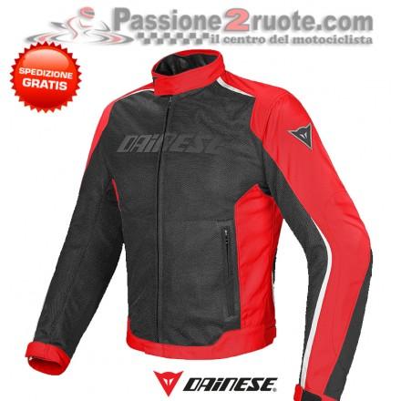 Giacca moto estiva Dainese Hydra Flux D-Dry Nero Rosso Bianco jacket