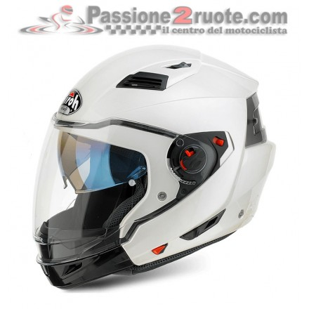 Casco crossover Airoh Executive Bianco White moto helmet
