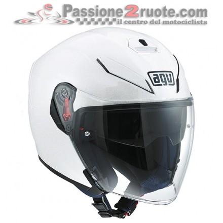 Casco Agv K5 jet pearl White helmet