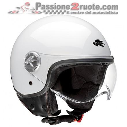 Casco jet moto scooter Kappa Kv20 Rio Bianco white helmet