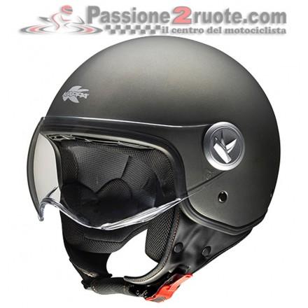 Casco jet moto scooter Kappa Kv20 Rio B Titanio Opaco helmet