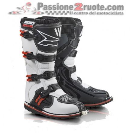 Stivali moto cross Cross Axo Drone Limited Edition Bianco Rosso boots
