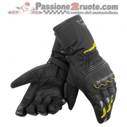 Guanti Dainese Tempest D-Dry Long Nero Giallo-Fluo
