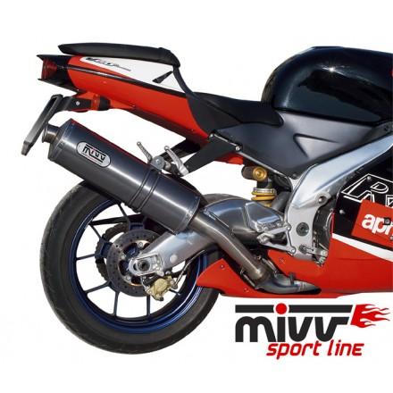 Scarichi Mivv Oval Classic Titanio Aprilia RSV 1000 (98-03) - A.001.LN
