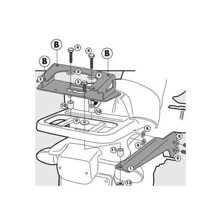 Attacco posteriore Givi SR694 Bmw R1100 gs (94-99)