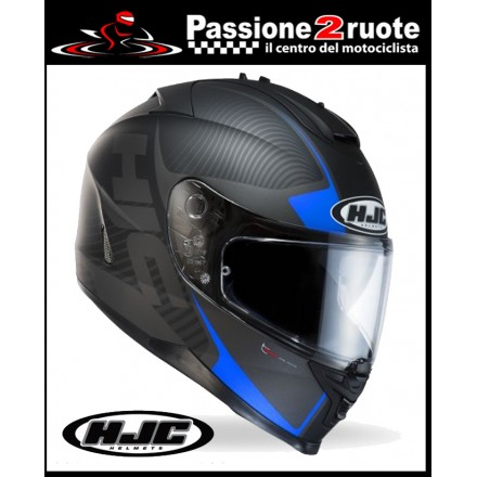 casco integrale hjc is17 mission blu helmet