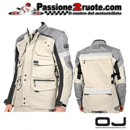 Giacca moto touring OJ Desert Evo Sand Nero jacket