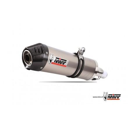 Impianto Scarico Completo Mivv Oval Inox Carbon Cap Yamaha X-City 125 - Y.029.LX1C