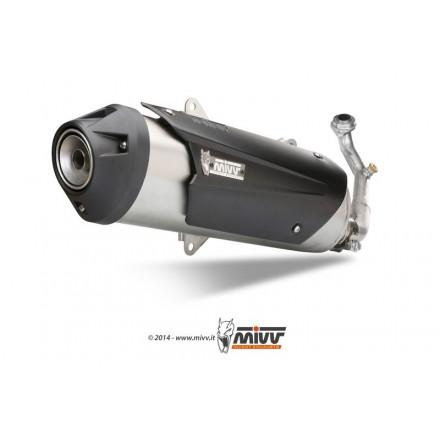 Impianto Scarico Completo Mivv Urban Yamaha X-City 250 (kat version) - C.YA.0006.K
