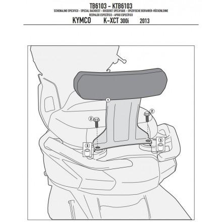 schienalino Givi TB6103 Kymco K-XCT 125i-300i (13-14)