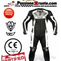 tuta intera pelle racing pista Arlen ness 9473 nero leather suit