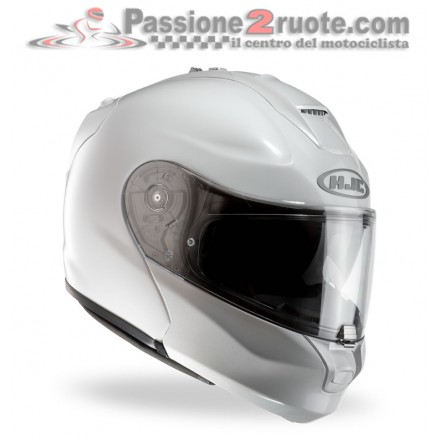 Casco modulare in fibra Hjc Rpha Max Evo bianco white flip up fiber helmet