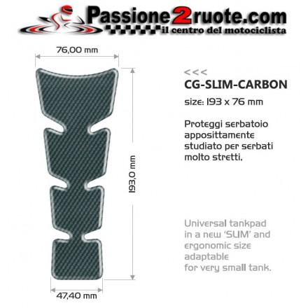 Paraserbatoio adesivo protezione serbatoio resinato parazip Print Slim Carbon tank pad