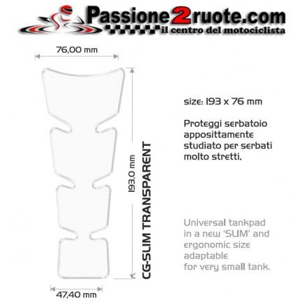 Paraserbatoio adesivo protezione serbatoio resinato para zip Universale moto Print slim trasparente clear tank pad