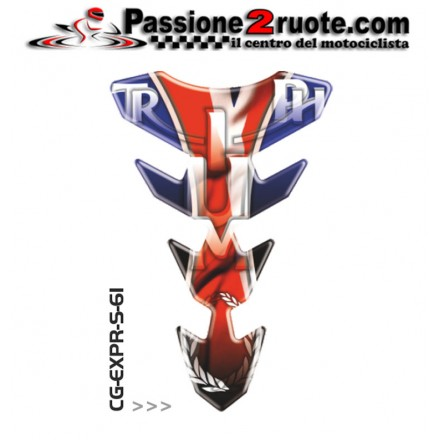 Paraserbatoio adesivo protezione serbatoio moto resinato para zip moto Print Triumph CGEXS61P tank pad