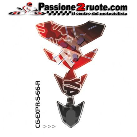 Paraserbatoio adesivo protezione serbatoio moto resinato para zip moto Print Yamaha rosso red CGEXS66RP tank pad