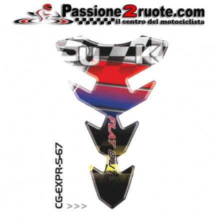 Paraserbatoio adesivo protezione serbatoio moto resinato para zip moto Print Suzuki CGEXS67P tank pad