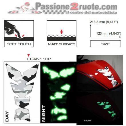 Paraserbatoio Print Mimetico Fosforescente soft touch