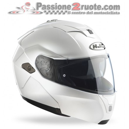 Casco modulare Hjc Sy-Max III Metal Pearl White helmet