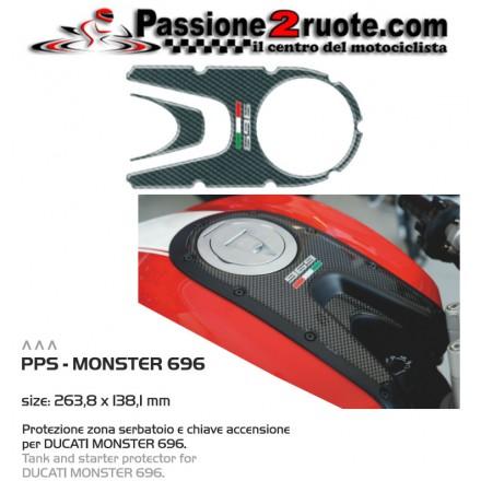 Adesivo protezione serbatoio chiave accensione Ducati Monster 696 sticker tank protection