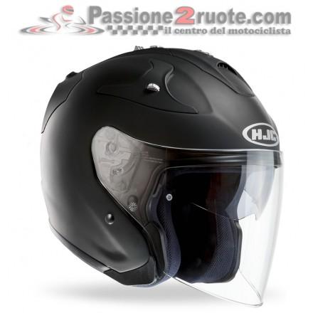 Casco Jet fibra visiera lunga e visierino da sole Hjc Fg-jet nero opaco matt black fiber helmet casque
