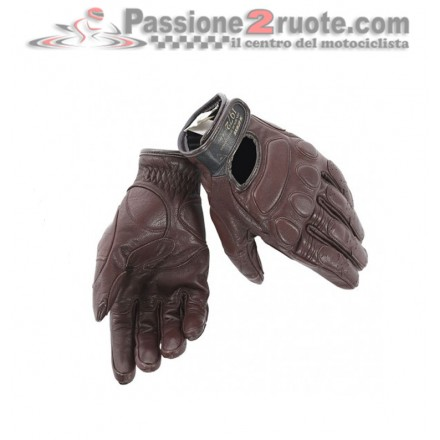 Guanti pelle moto vintage Dainese Blackjack marrone dark brown gloves