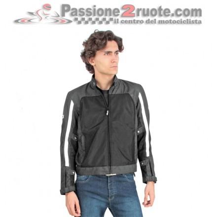 Giacca moto traforata estiva Oj Level nero bianco black white perforated summer jacket