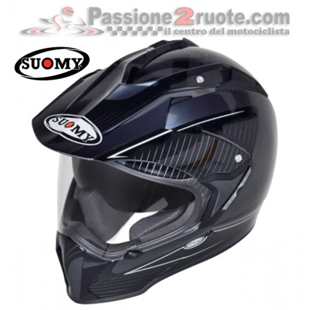 Casco enduro motard Suomy Mx Tourer antracite Black moto touring helmet