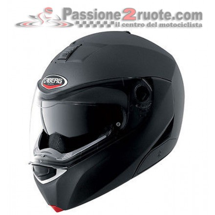 Casco modulare apribile moto Caberg Modus nero opaco matt black flip up helmet casque