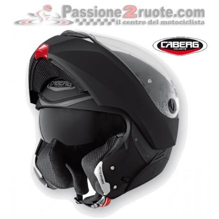 Casco modulare apribile moto Caberg Modus nero opaco matt black flip up helmet casque