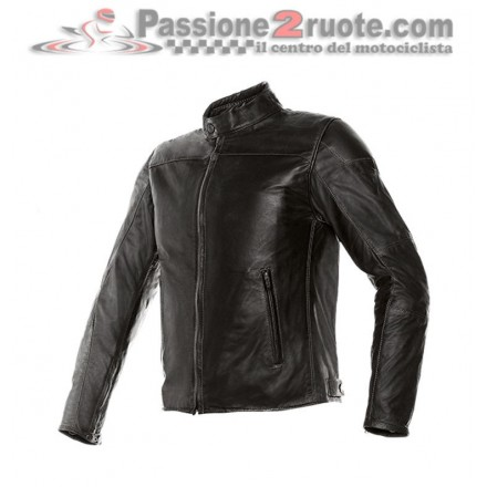Giacca moto Dainese Mike pelle Nero moto leather jacket