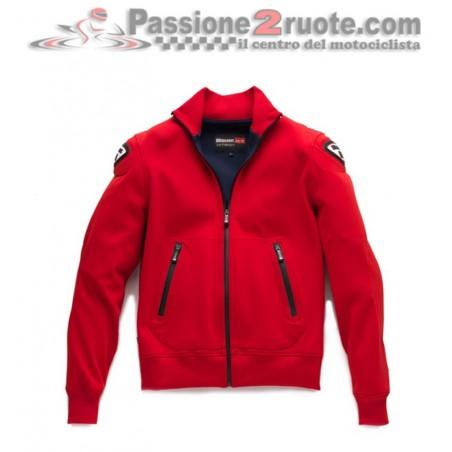 Felpa giacca moto Blauer Easy Man 1.0 red sweatshirt jacket