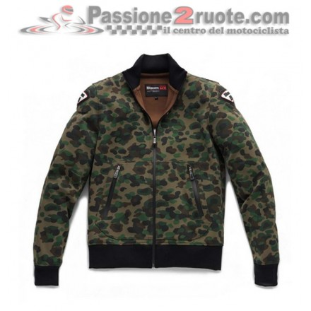 Felpa giacca moto donna Blauer Easy Woman 1.0 Camouflage jacket