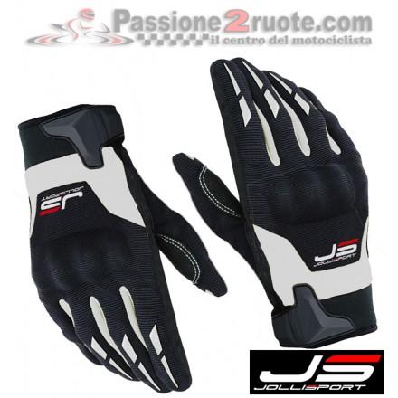 guanti moto estivi jollisport sonny nero giallo black white moto gloves