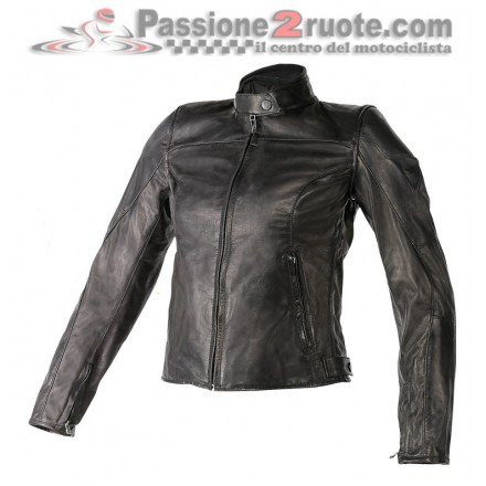 Giacca donna moto Dainese Mike lady pelle Nero moto leather jacket