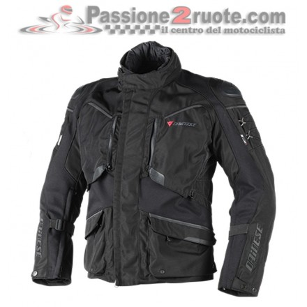 Giacca moto touring adventure 4 stagioni Dainese Ridder D1 goretex nero black ebony jacket