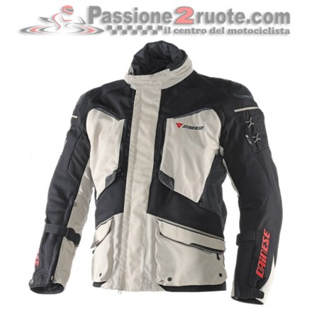 Giacca moto touring adventure 4 stagioni Dainese Ridder D1 goretex peyote black ebony jacket
