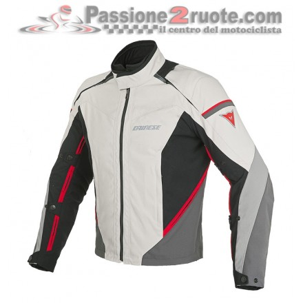 Giacca moto impermeabile Dainese Rainsun D-dry sabbia rosso peyote black red waterproof jacket