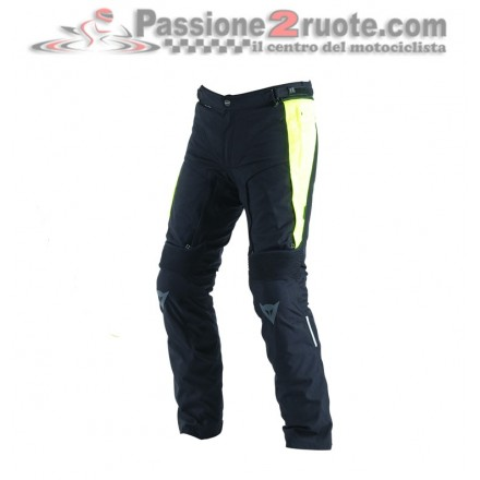 Pantoloni moto touring adventure Dainese D-stormer D-dry nero giallo black yellow waterproof pant trouser