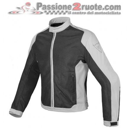 Giacca moto estivo traforata Dainese Air Flux D1 Tex black grey summer mesh jacket