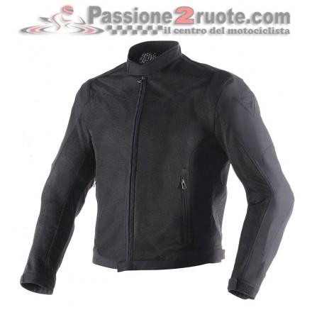 Giacca moto estivo traforata Dainese Air Flux D1 Tex nero black summer mesh jacket