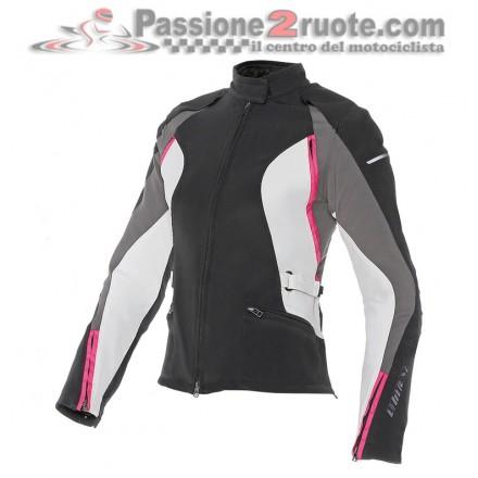 Giacca moto donna Dainese Arya tex lady nero fucsia black ladies woman jacket